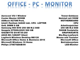 Office - PC mit Monitor